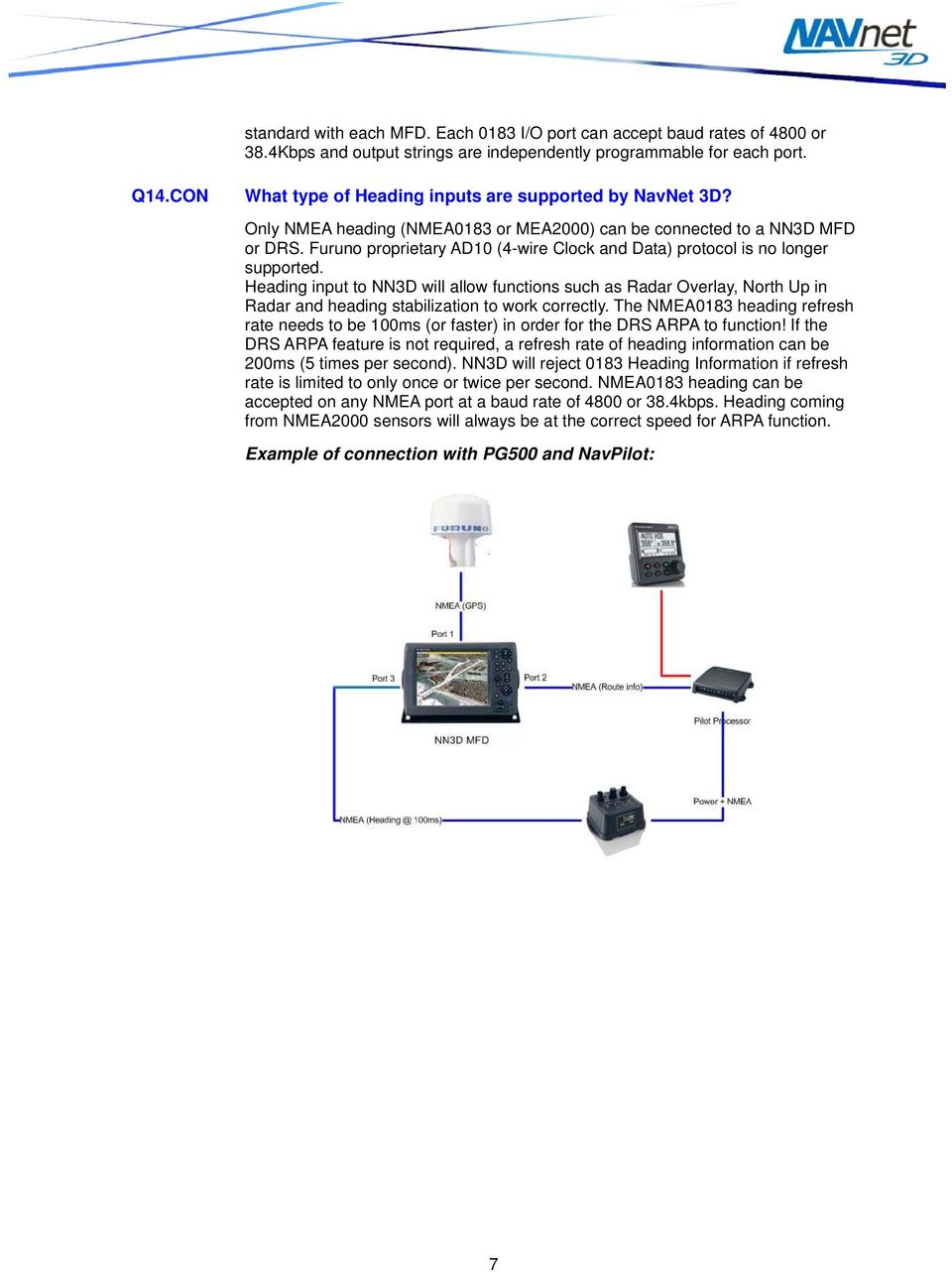 Navnet 3d Faq V20 Furuno Usa Inc Table Of Contents Pdf Wiring Diagram Proprietary Ad10 4 Wire Clock And Data Protocol Is No Longer Supported