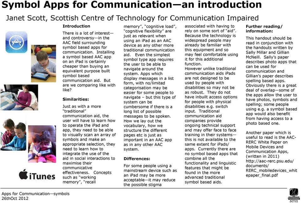 Symbol Apps for Communication an introduction - PDF