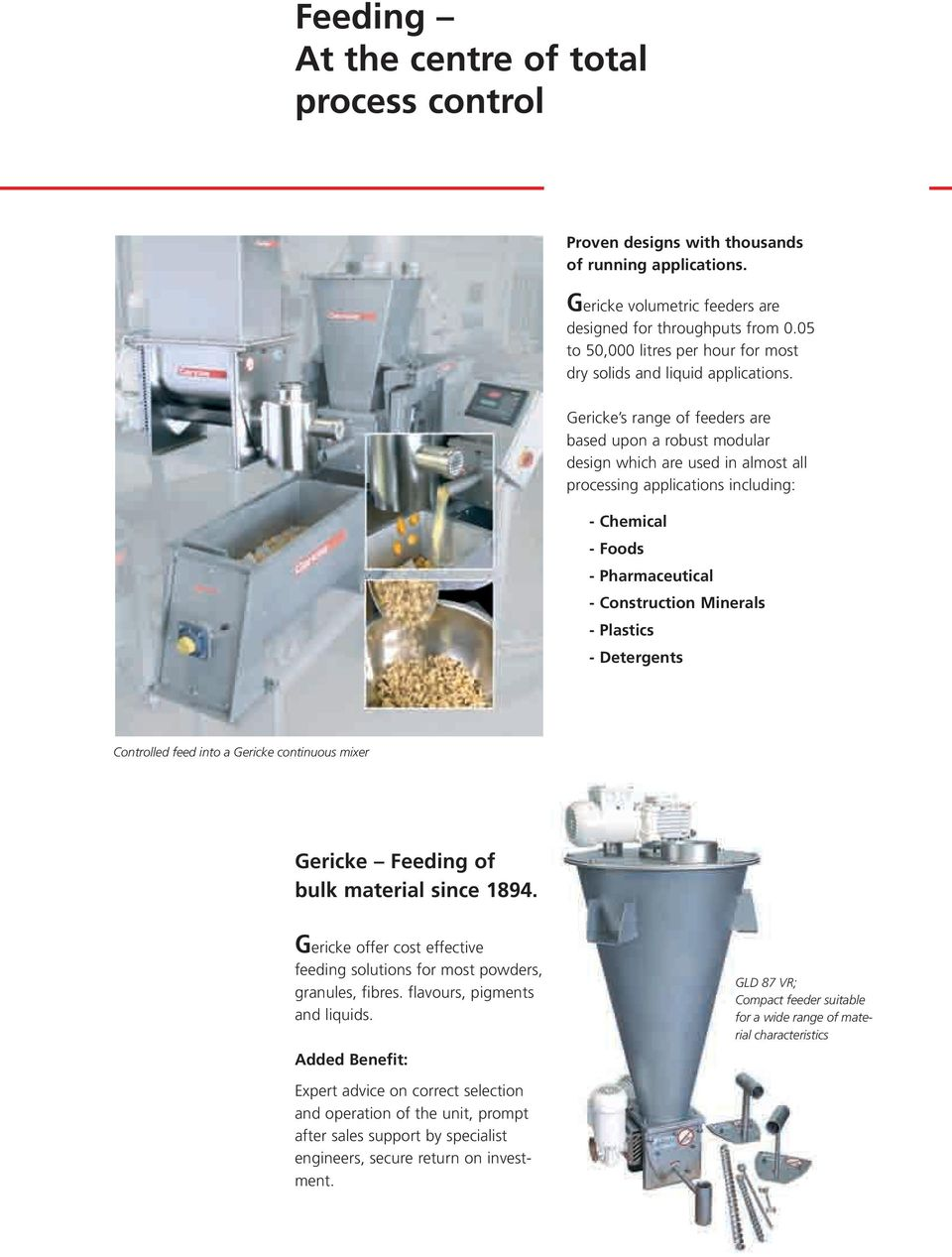Precision Feeders  High accuracy feeding solutions for