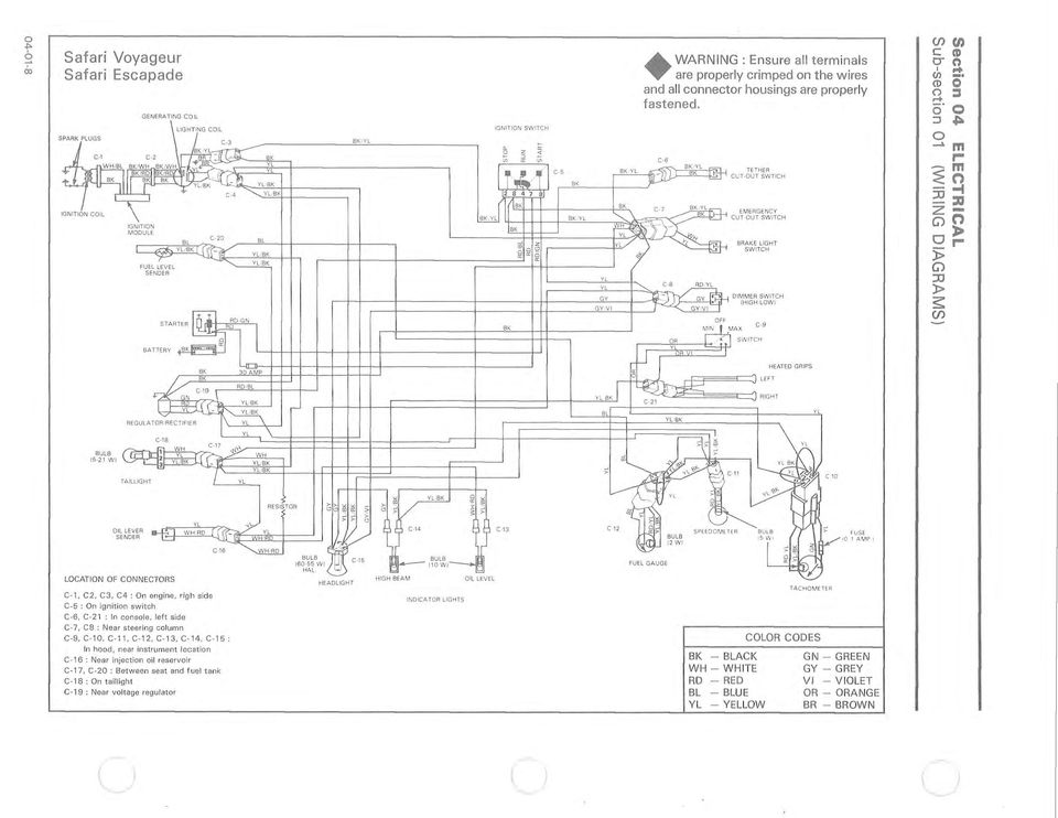 wiring diagrams chart codes section 04 electrical sub section 01 rh docplayer net