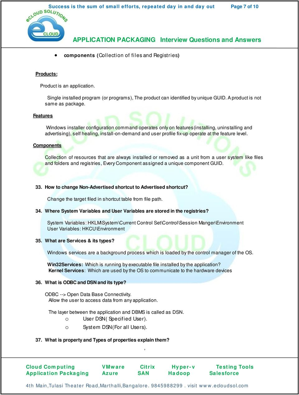 Interview and answers pdf citrix questions