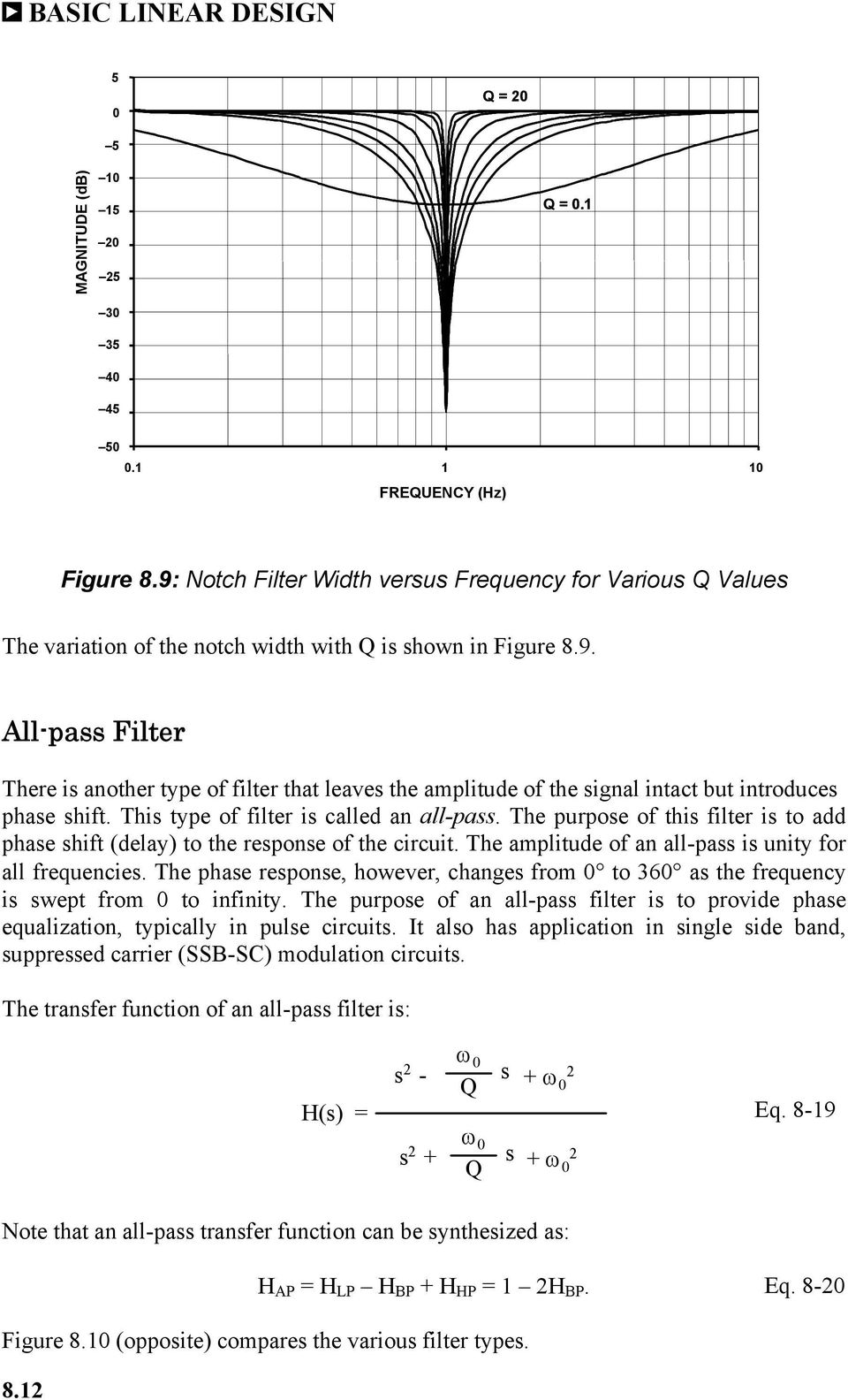 Chapter 8 Analog Filters Pdf Type Of Filter Circuit This Is Called An Allpass The Purpose To