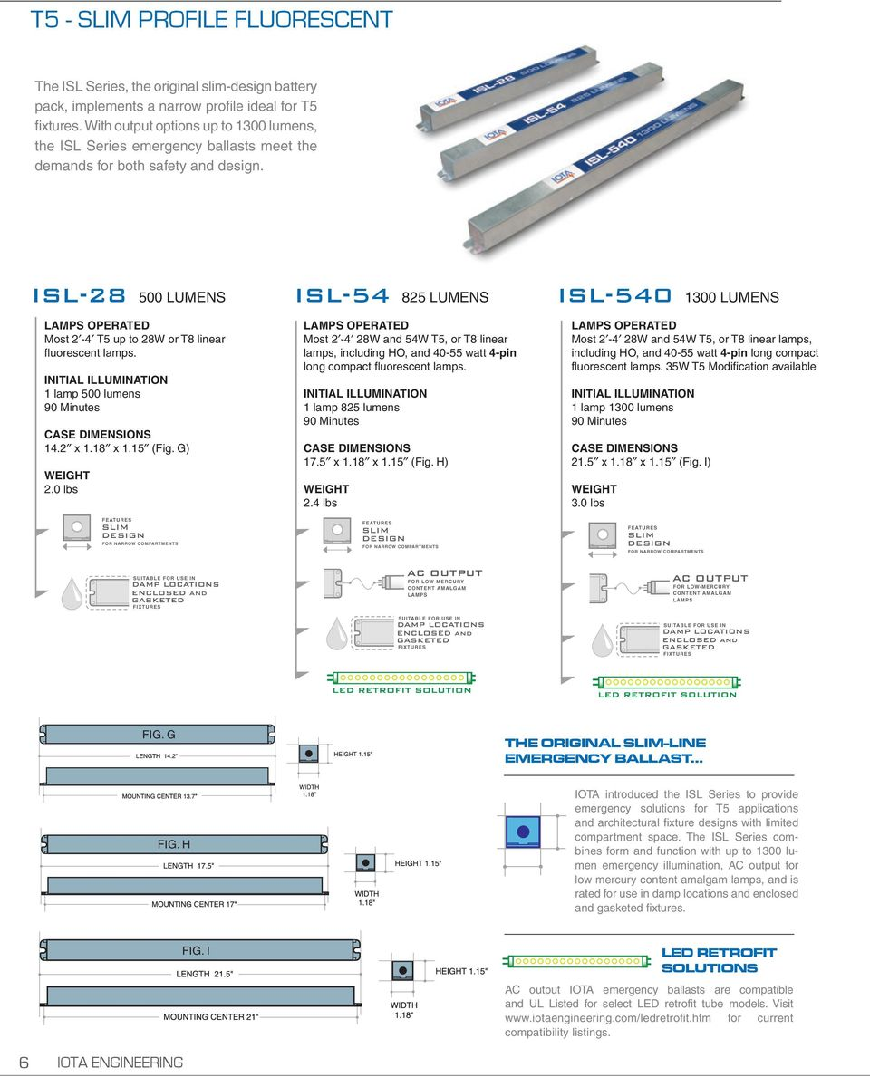 Isl 54 Emergency Ballast Wiring Diagram Great Installation Of Iota Solutions For Fluorescent And Led Retrofit Lamps Pdf Rh Docplayer Net Diagrams