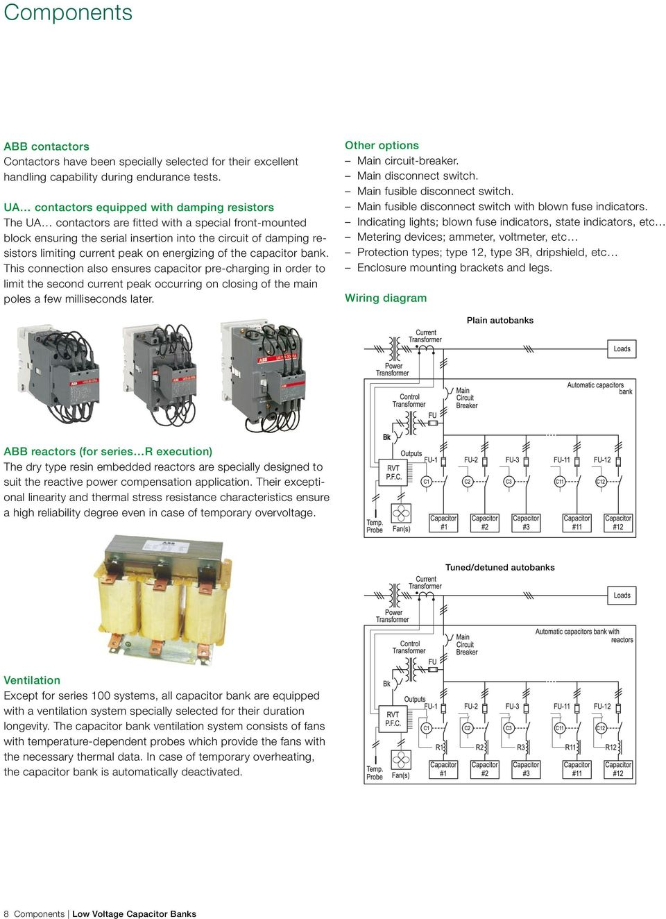 Abb Limit Indicator Wiring Diagram Detailed Schematics Ach550 Low Voltage Products Capacitor Banks Power Factor Balluff