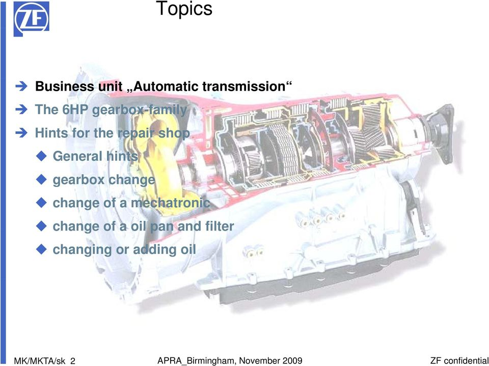 ZF Transmissions with Mechatronics - PDF