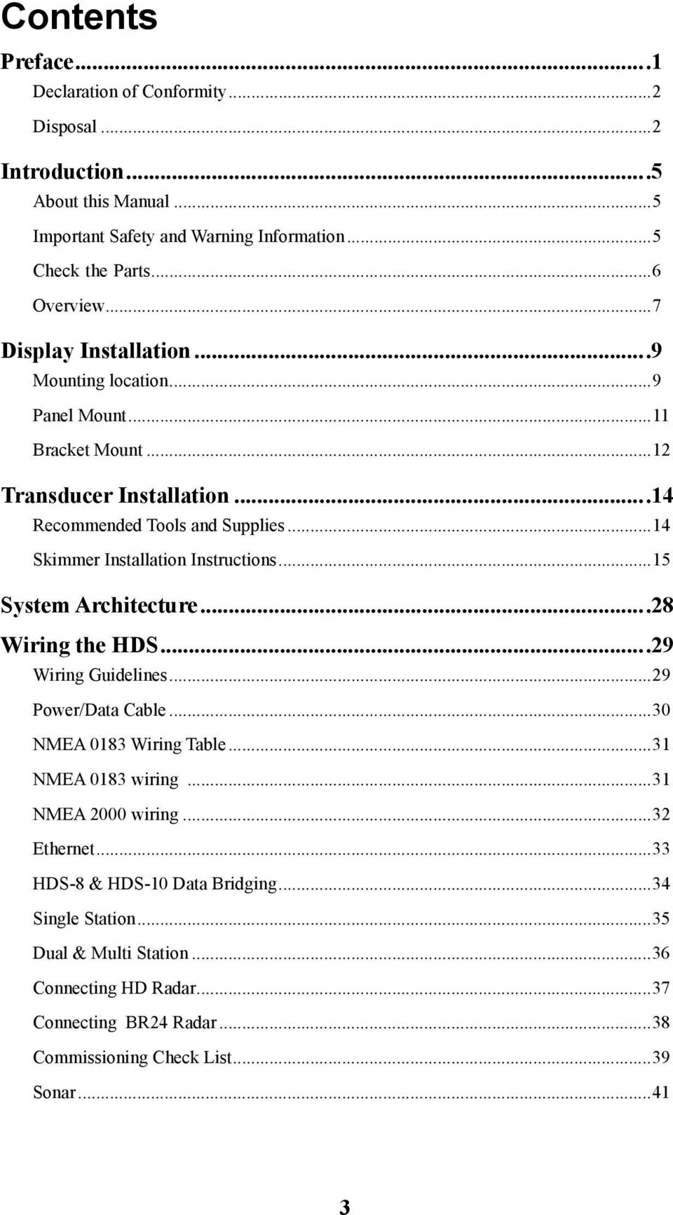 Hds Series Installation Manual Pdf Rj45 Wall Jack Wiring Diagram Also Lowrance Elite In 14 Skimmer Instructions15 System Architecture28
