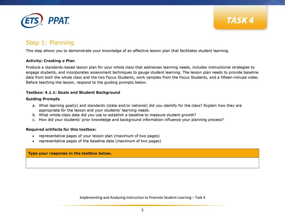 Task Requirements Task 4 Implementing And Analyzing Instruction To