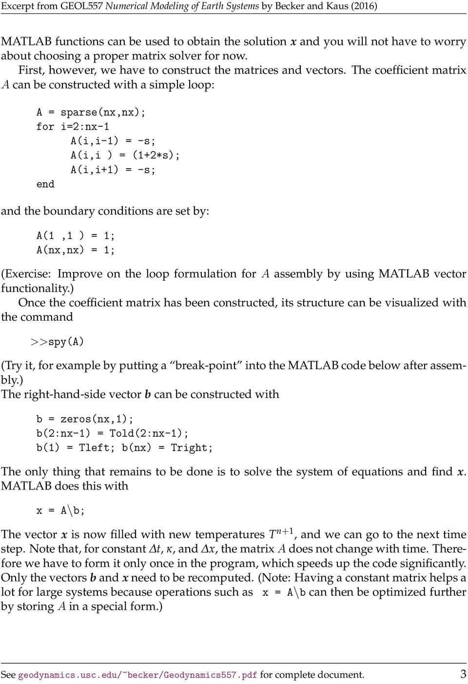 1 Finite difference example: 1D implicit heat equation - PDF