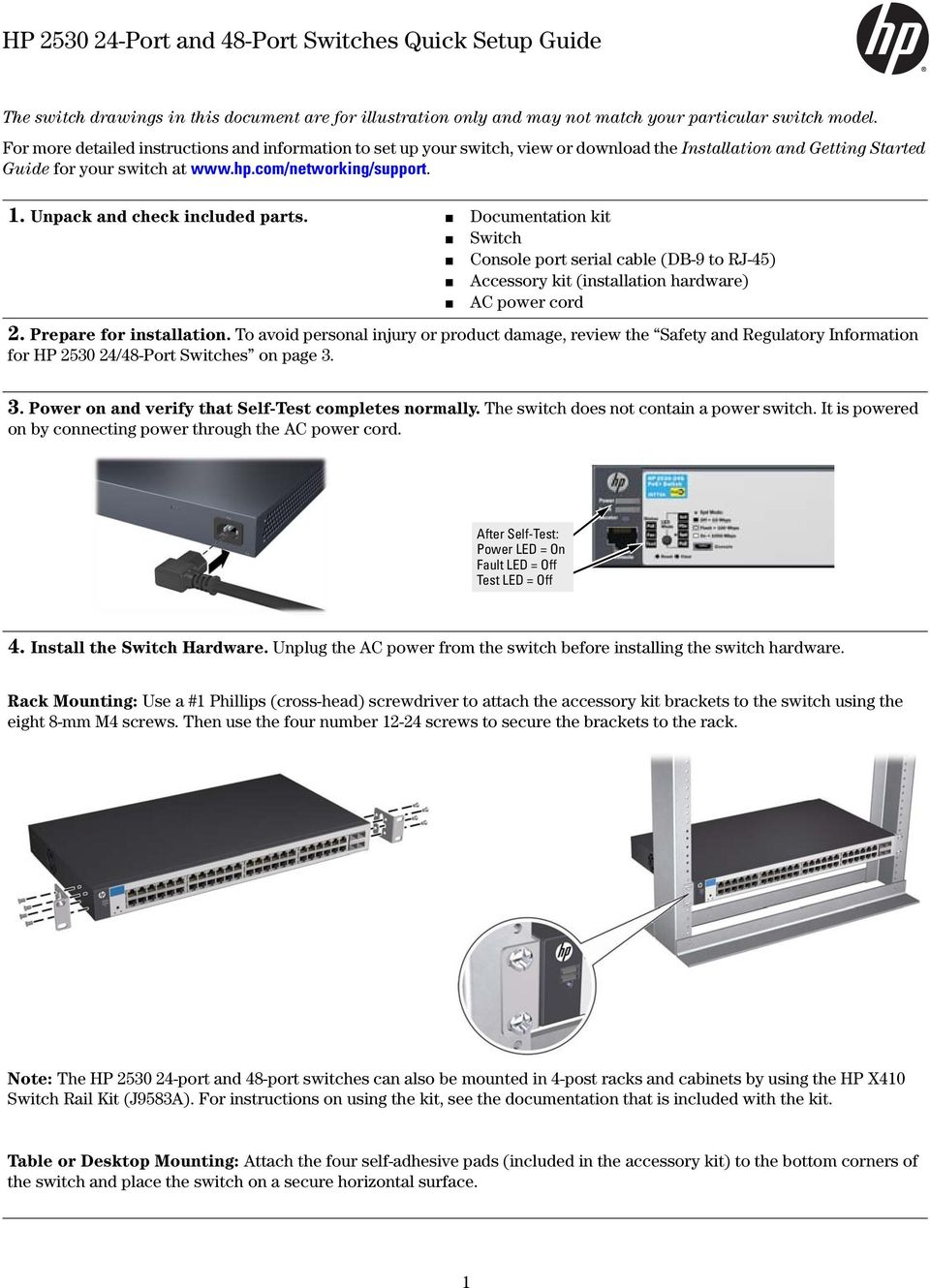 Hp Port And 48 Switches Quick Setup Guide Pdf Power Over Ethernet Wiring Diagram Note The Dmx Documentation Kit Switch Console Serial Cable Db