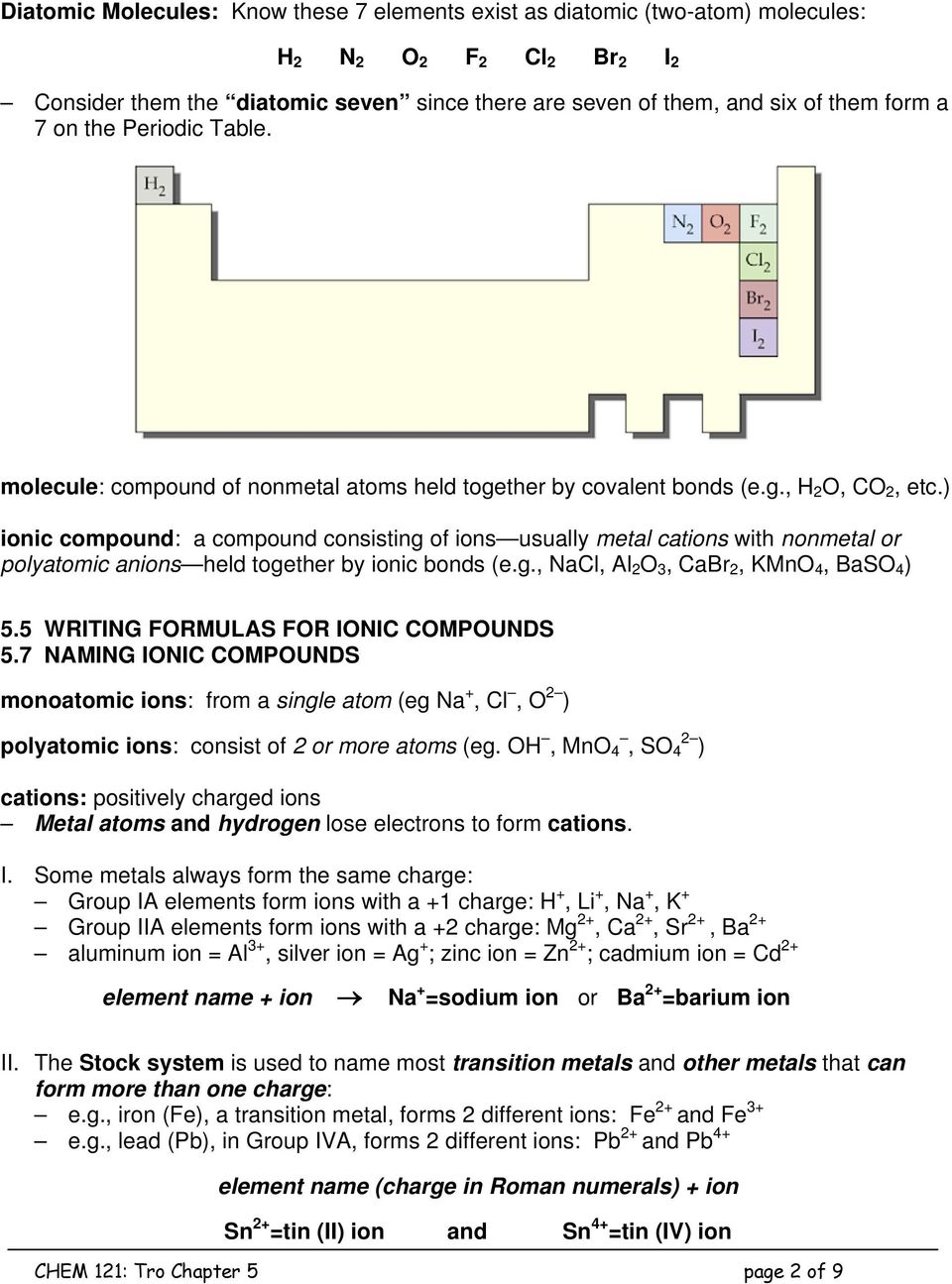 Chapter 5 Molecules And Compounds Pdf