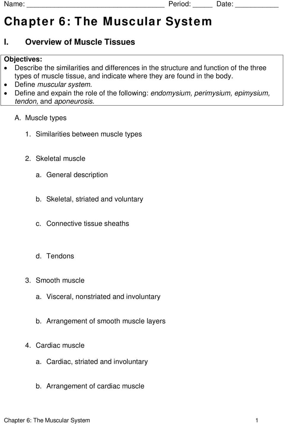 Chapter 6: The Muscular System - PDF