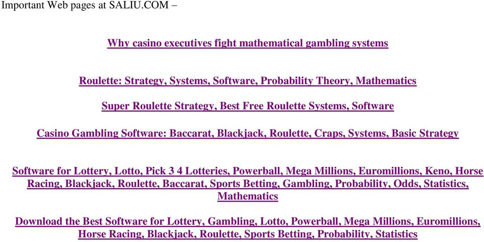 The Super Roulette Strategy Mathematical Roulette Systems