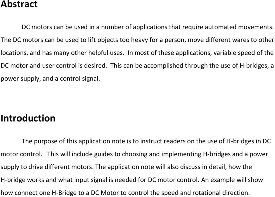 Selecting and Implementing H-Bridges in DC Motor Control