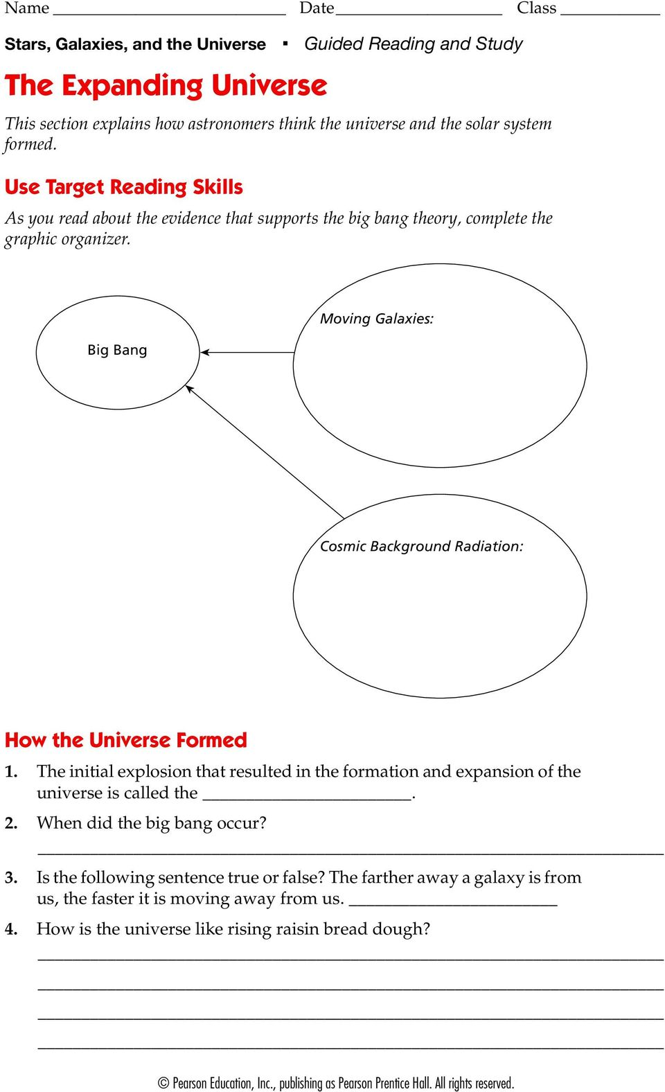 The solar system guided reading and study answers