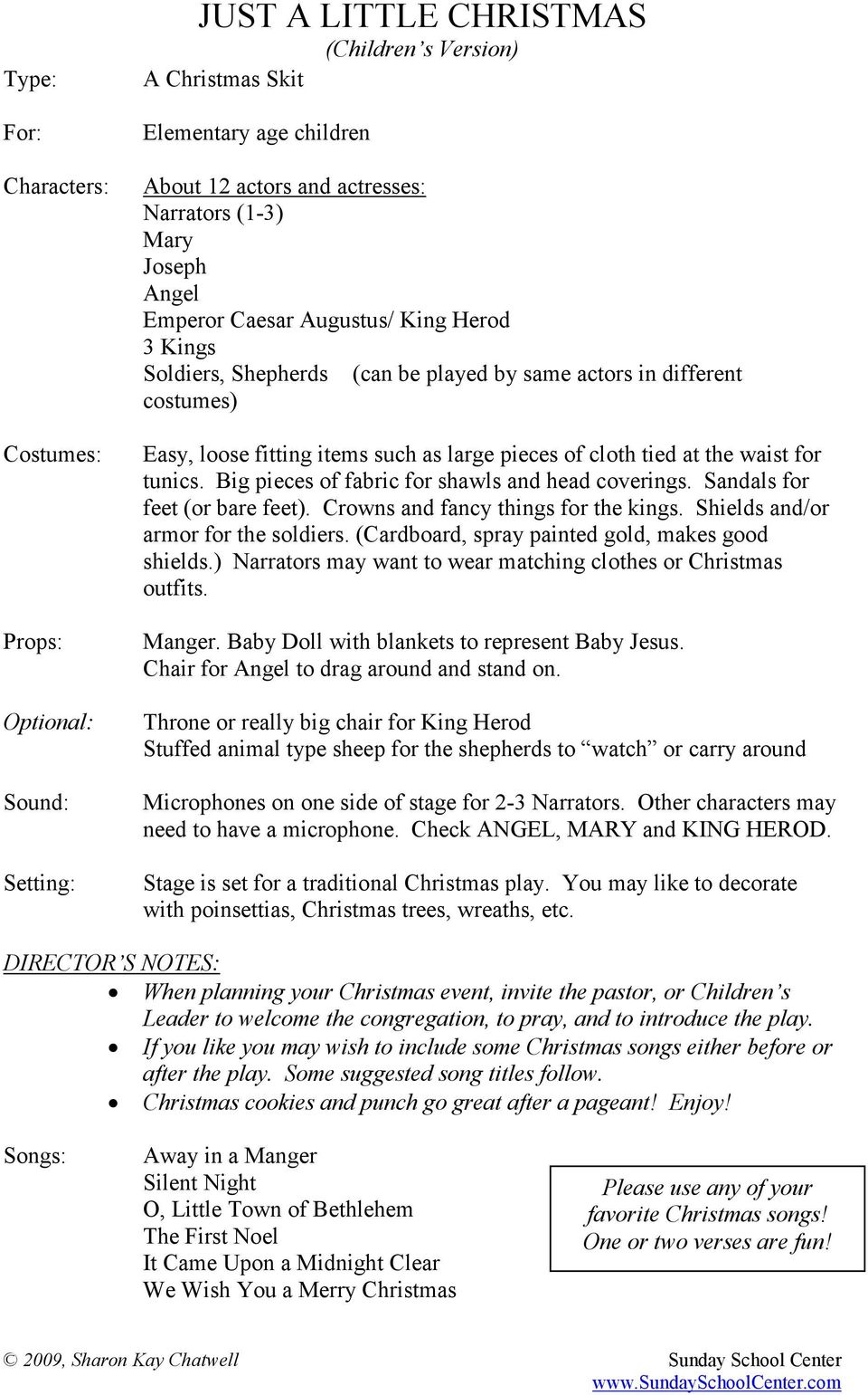 JUST A LITTLE CHRISTMAS - PDF
