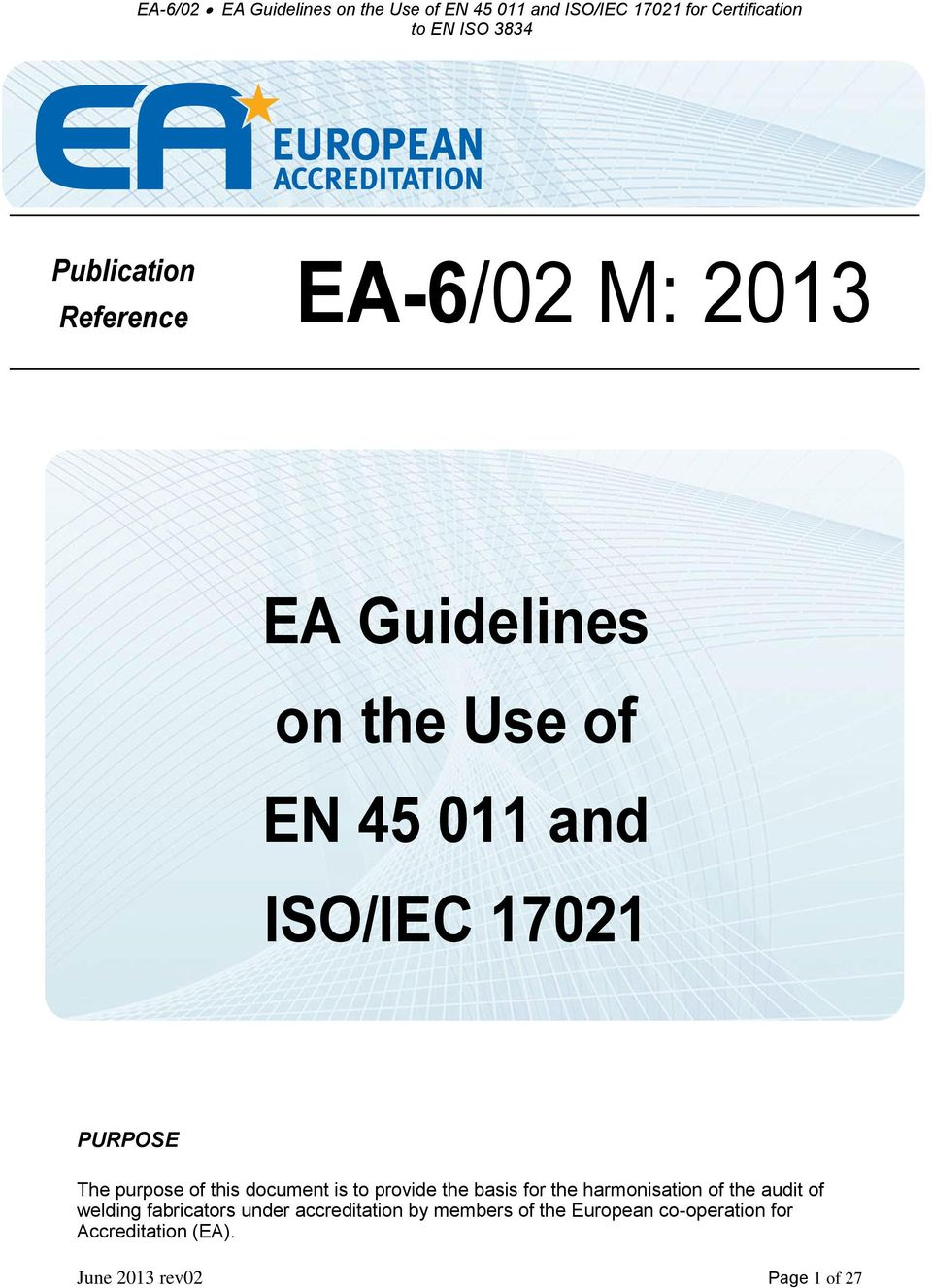 Ea 602 M Ea Guidelines On The Use Of En And Isoiec For