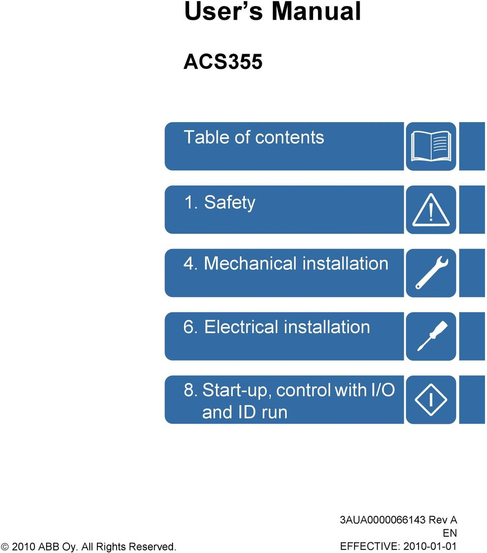 Abb General Machinery Drives User S Manual Acs355 Pdf Vfd Control Wiring Diagram Start Up With I O And Id Run 2010 Oy