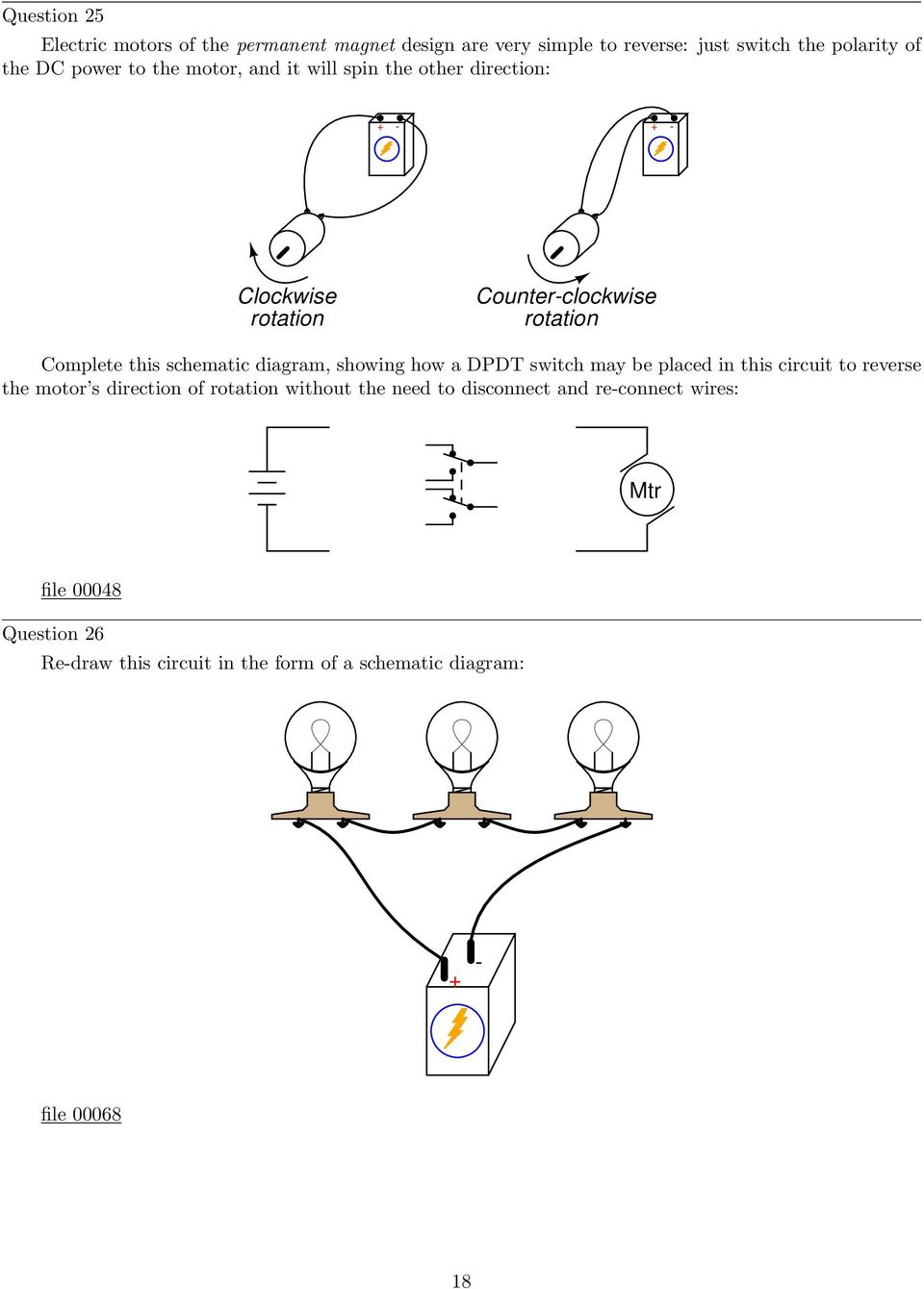 Simple Circuits Worksheet Pdf Spst And Ptm Switch Diagram Showing How A Dpdt May Be Placed In This Circuit To Reverse The