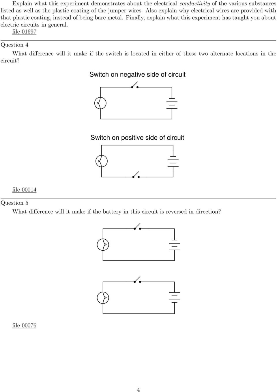 Simple Circuits Worksheet Pdf Spst And Ptm Switch Finally Explain What This Experiment Has Taught You About Electric In General