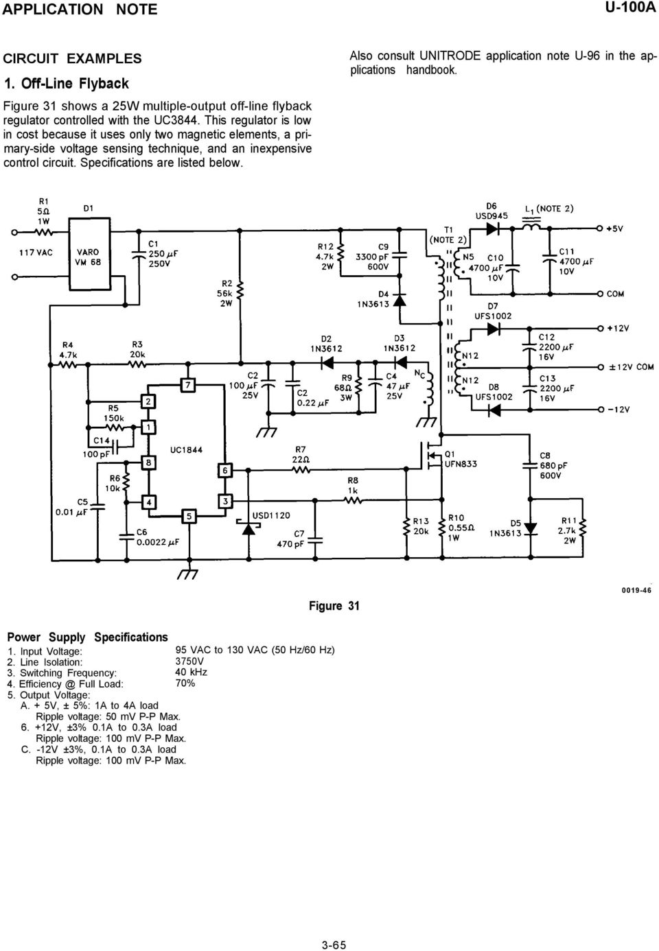 Application Note Uc3842 3 4 5 Provides Low Cost Current Mode Control 1000 Watt Lifier Circuit Furthermore 6v To 12v Dc Converter Also Consult Unitrode U 96 In The Applications Handbook Figure 31 0019