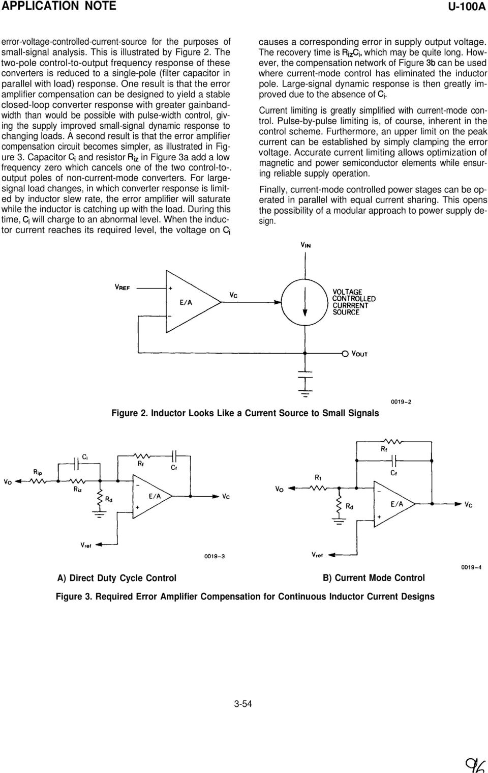 Application Note Uc3842 3 4 5 Provides Low Cost Current Mode Control Figure 2 Schematic Of The Led Driver Reference Design One Result Is That Error Amplifier Compensation Can Be Designed To Yield A Stable Closed