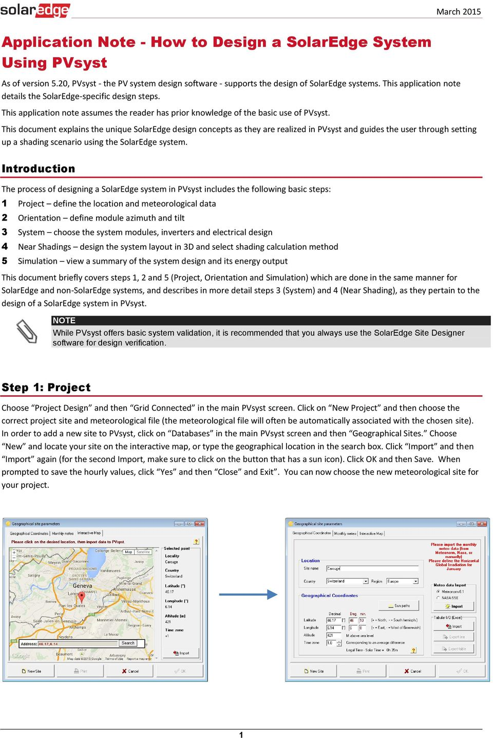 Application Note - How to Design a SolarEdge System Using