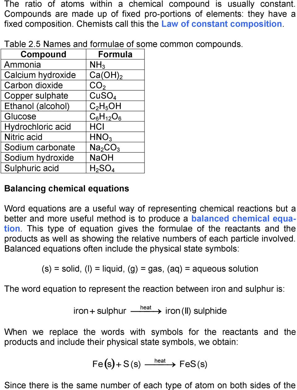 Chapter 2 Elements Compounds And Mixtures Pdf