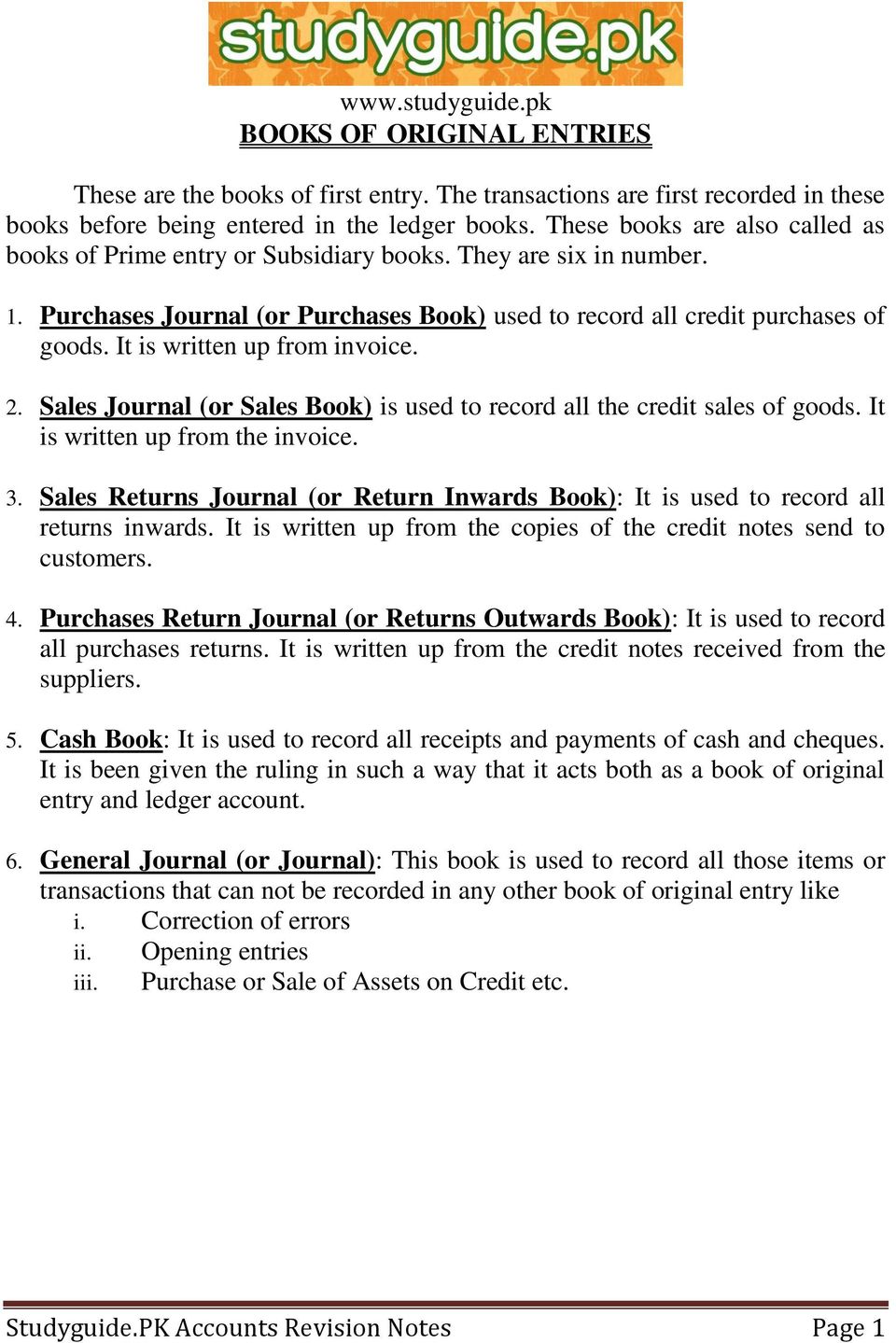 studyguide pk accounts revision notes page 1 pdf rh docplayer net