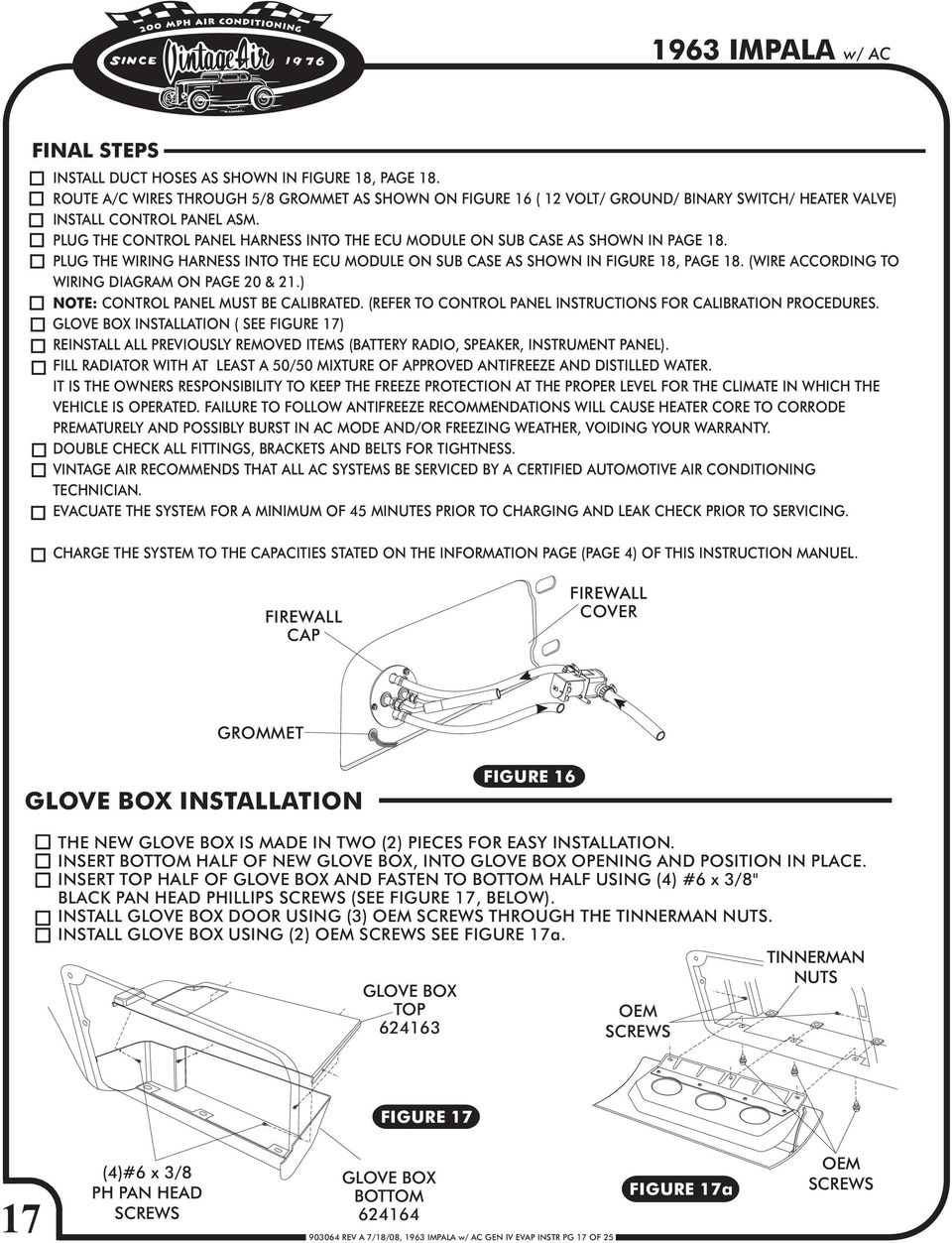 1963 Chevy Impala Gen Iv W Factory Air Pdf To Coil Wiring Diagram 2003 Wire According On Page 20 21 Note Control