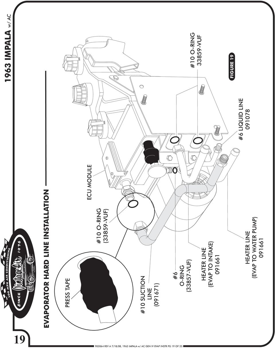 1963 Chevy Impala Gen Iv W Factory Air Pdf Ac Compressor Brackets Diagram For A 1978 Corvette 091671 6 O Ring 33857 Vuf Heater Line