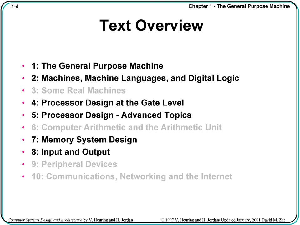 Computer Systems Design And Architecture By V Heuring And H Jordan Pdf Free Download