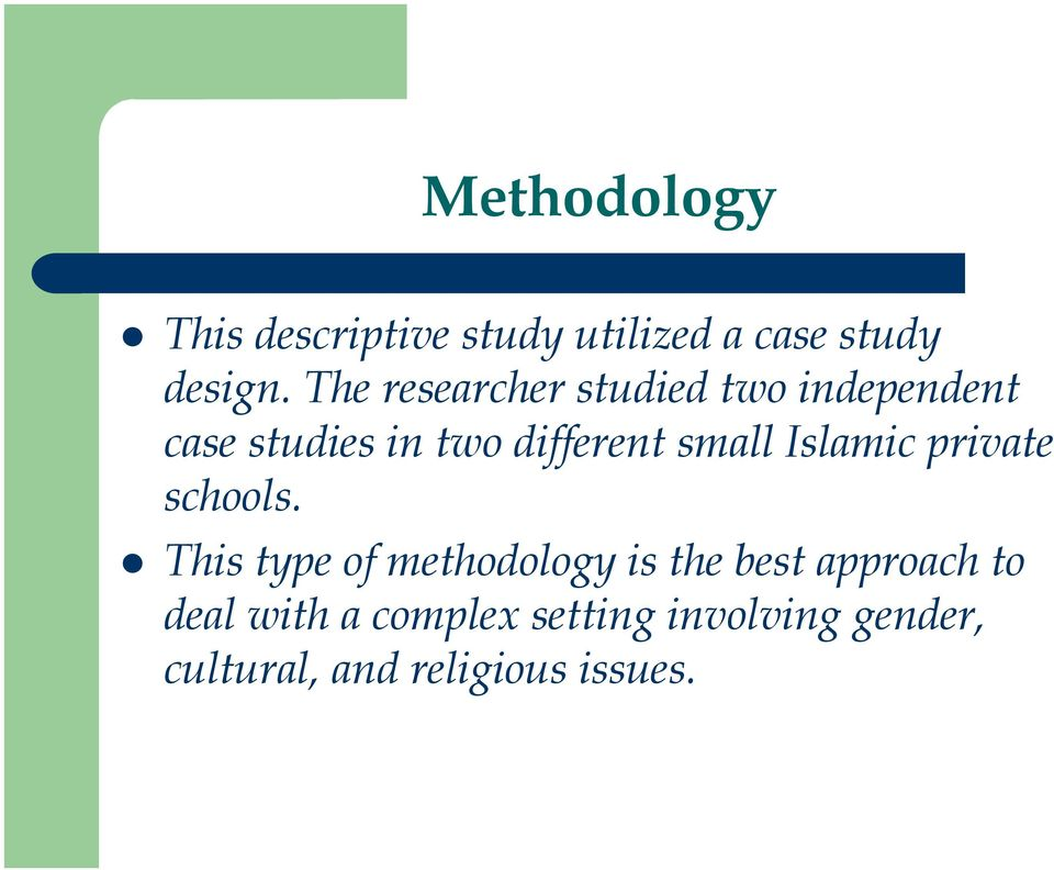 Gender Issues in Islamic Schools: A Case Study in the United States