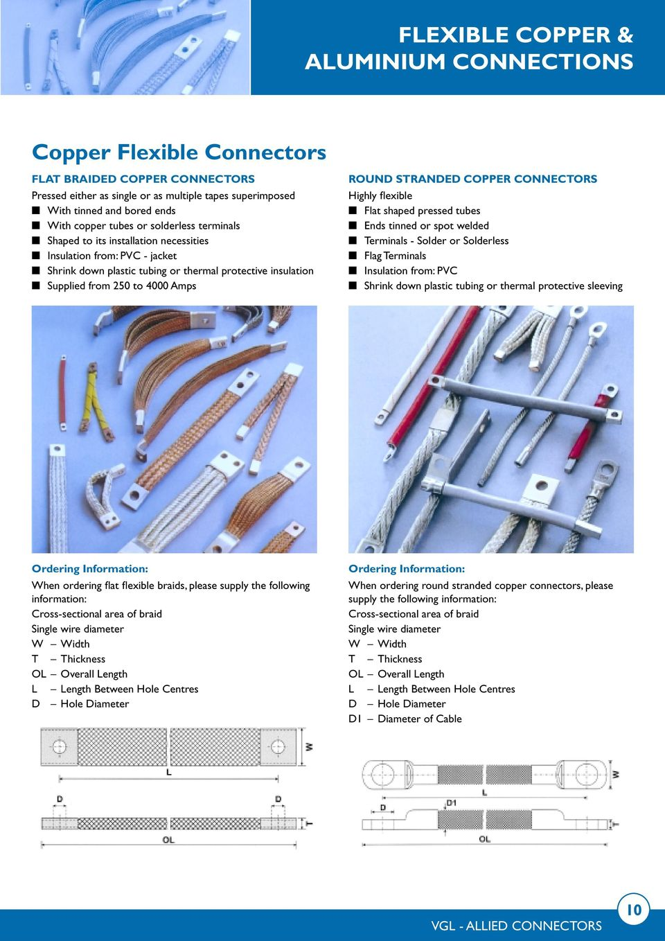 Flexible Copper Aluminium Connections Product Range 1 Vgl Electrical Wire Conductor Bv Electric Flat Shaped Pressed Tubes Ends Tinned Or Spot Welded Terminals Solder Solderless Flag