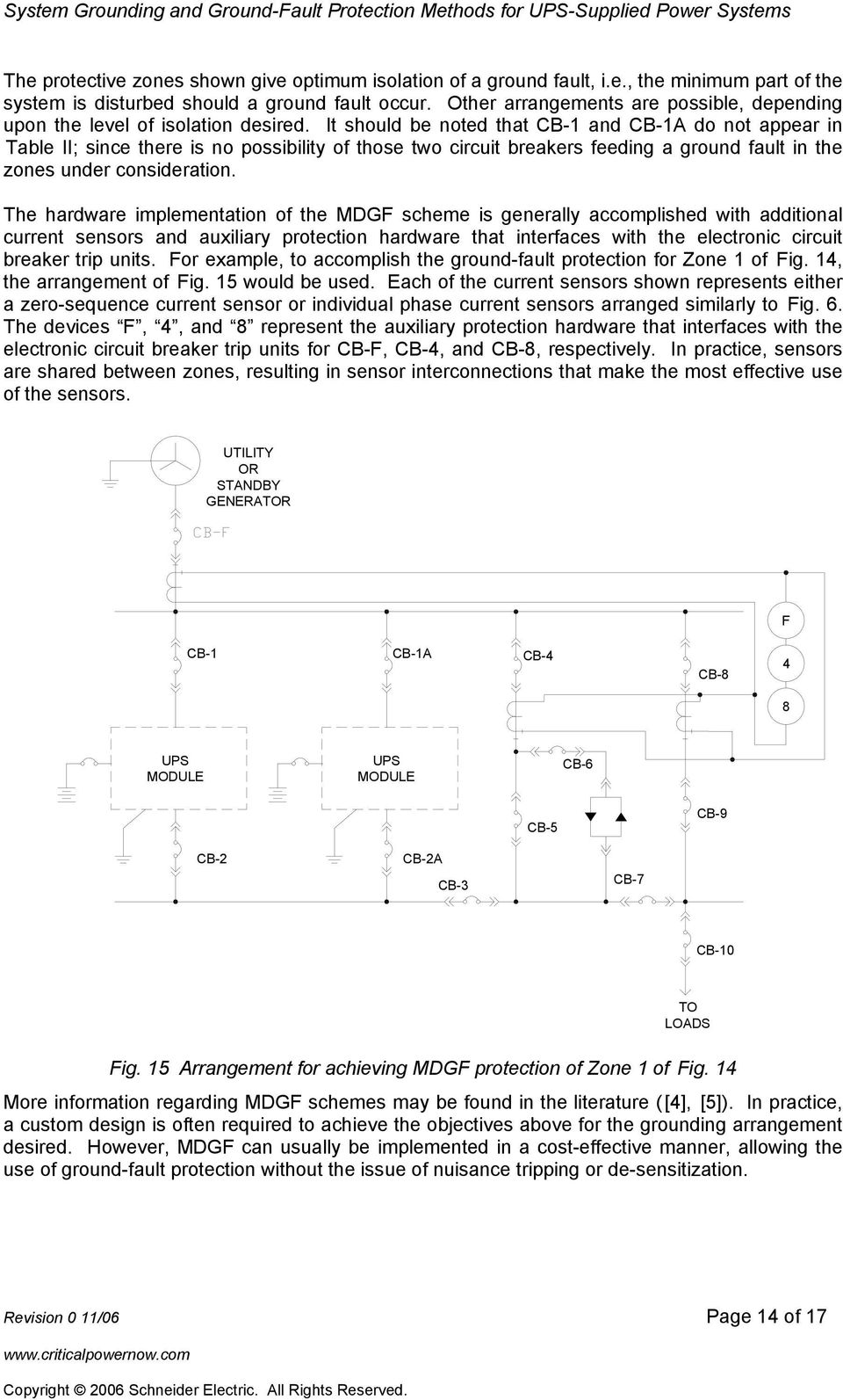 System Grounding And Ground Fault Protection Methods For Ups Electronic Circuit Breaker Diagram Image It Should Be Noted That A Do Not Appear In Table Ii Since There