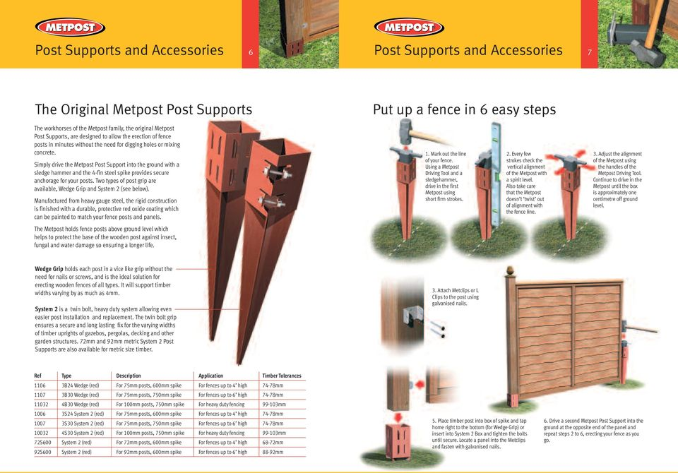 """6 x DRIVE IN POST HOLDER SPIKES 600mm long FOR 3/"""" x 3/"""" 75mm Fencing Posts"""