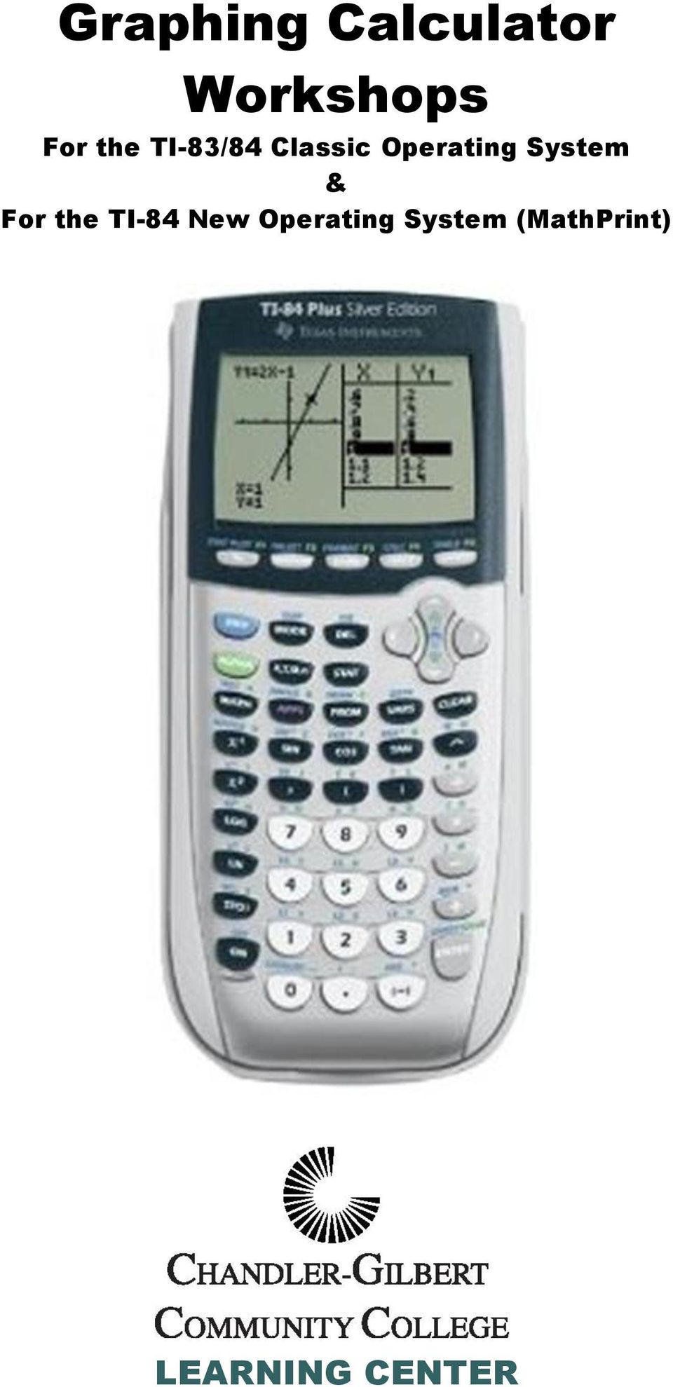 Graphing Calculator Workshops Pdf