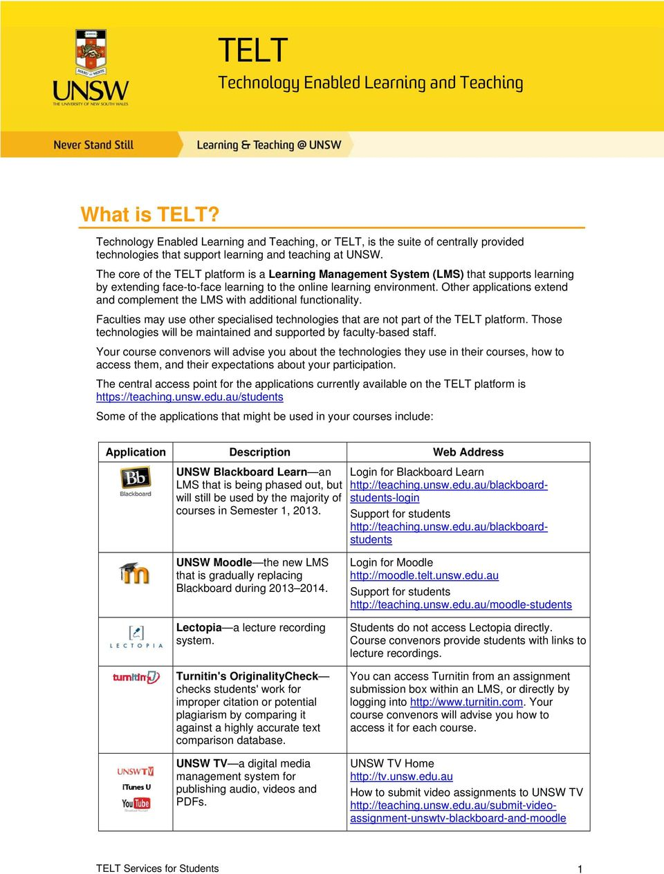 The core of the TELT platform is a Learning Management System (LMS) that  supports