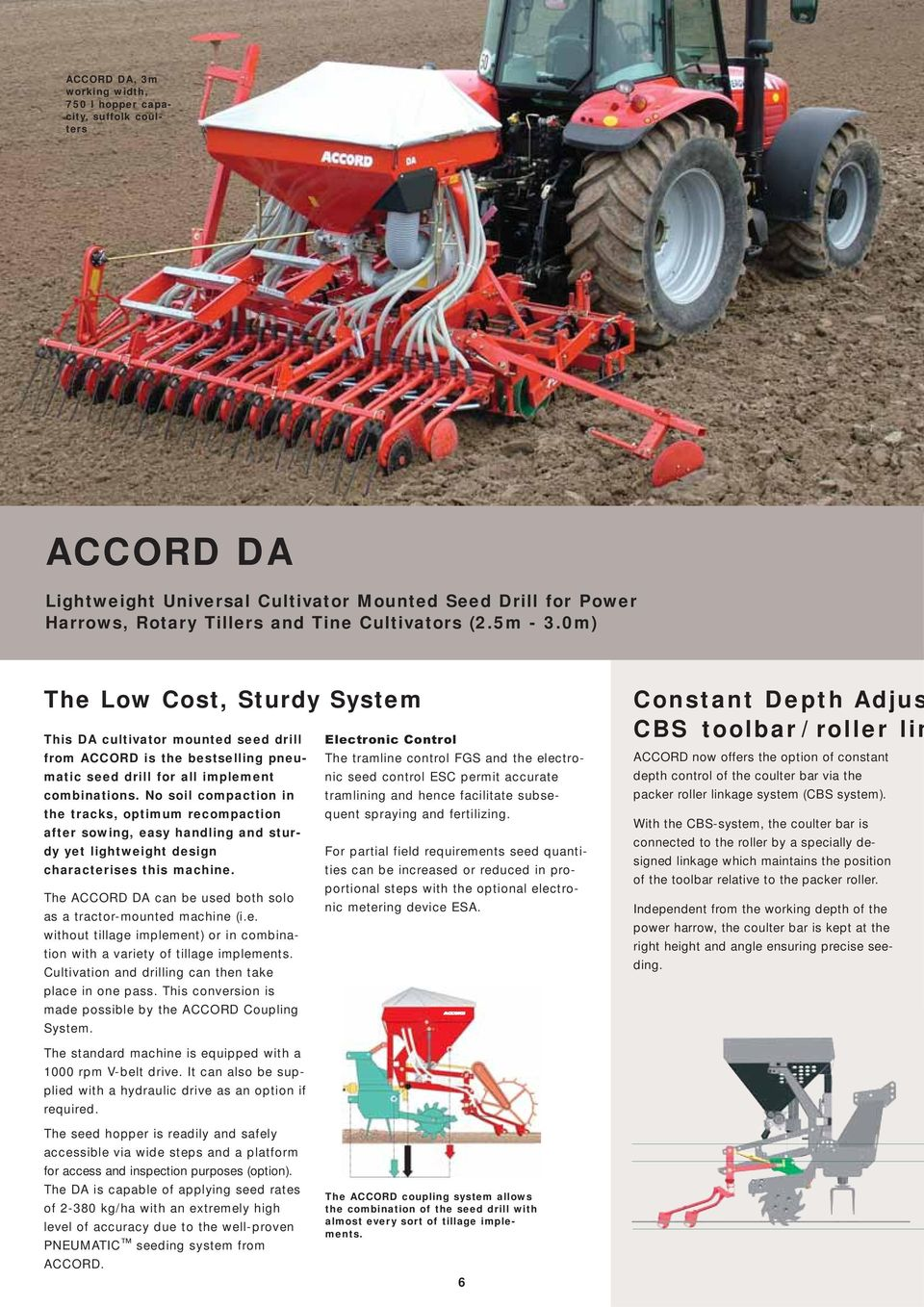 Pneumatic Seed Drills The Specialists In Seeding Pdf Rotative Speed Regulator Borer Driller Controller Tramline Control Fgs And Electro Combinations No Soil Compaction Tramlining Hence
