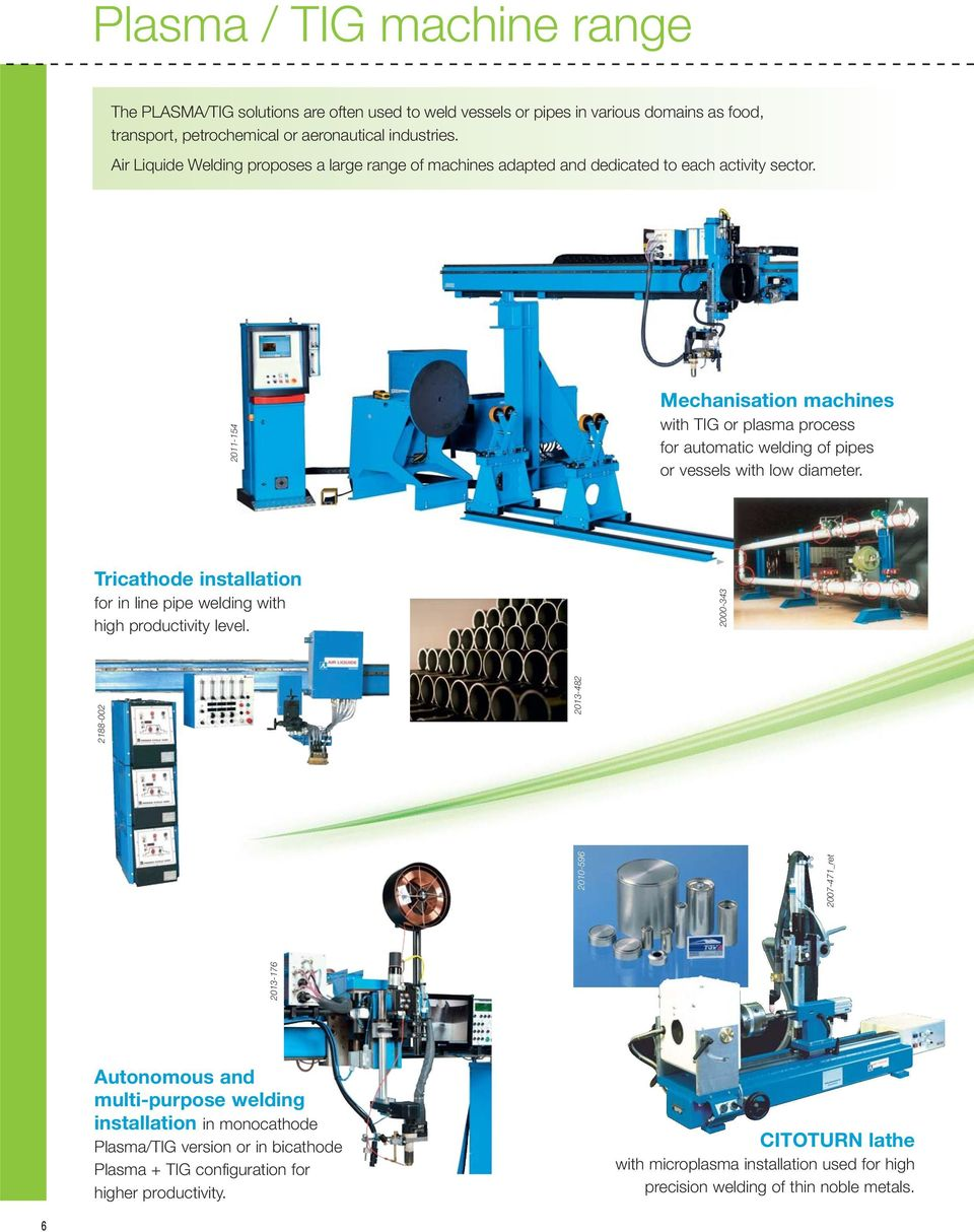 Plasma Tig Machine Range Pdf Welding Diagram 2011 154 Mechanisation Machines With Or Process For Automatic Of Pipes