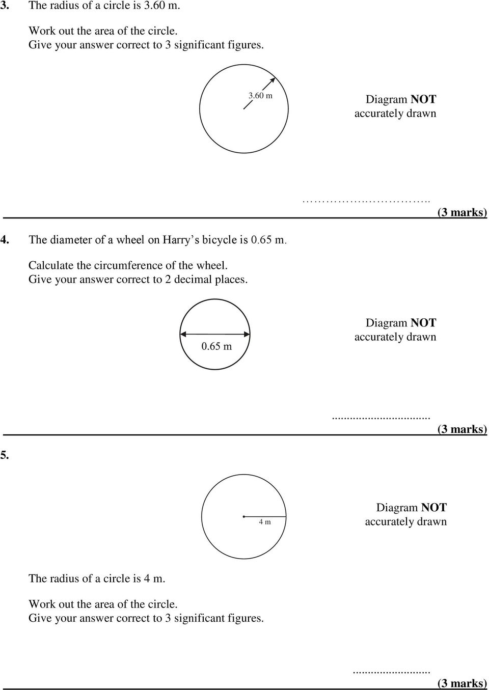 AREA & CIRCUMFERENCE OF CIRCLES - PDF