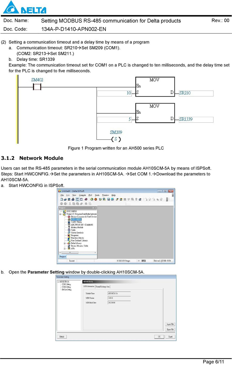 Topic: Setting MODBUS RS-485 Communication for Detla