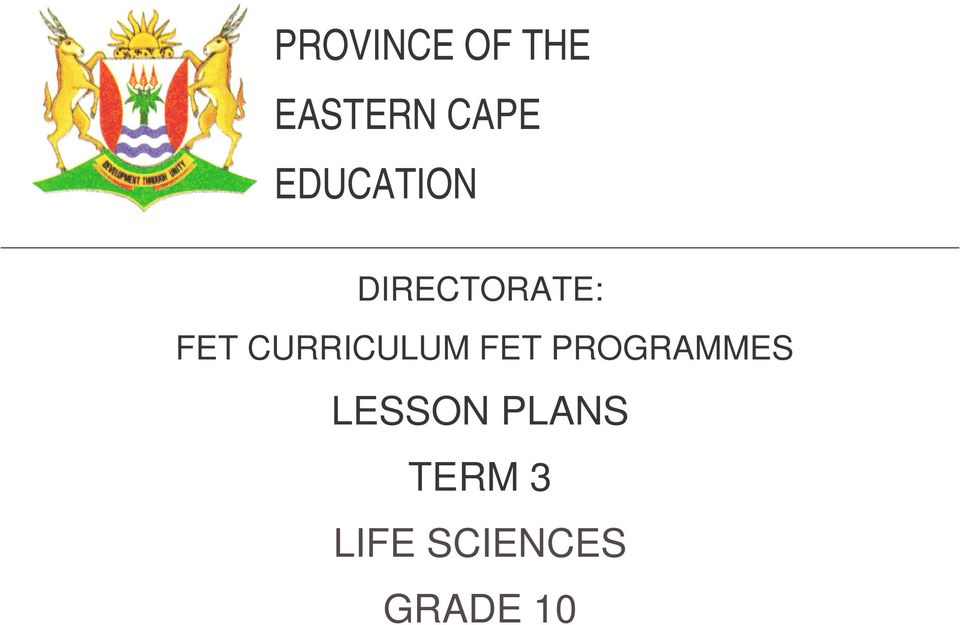 PROVINCE OF THE EASTERN CAPE EDUCATION PDF