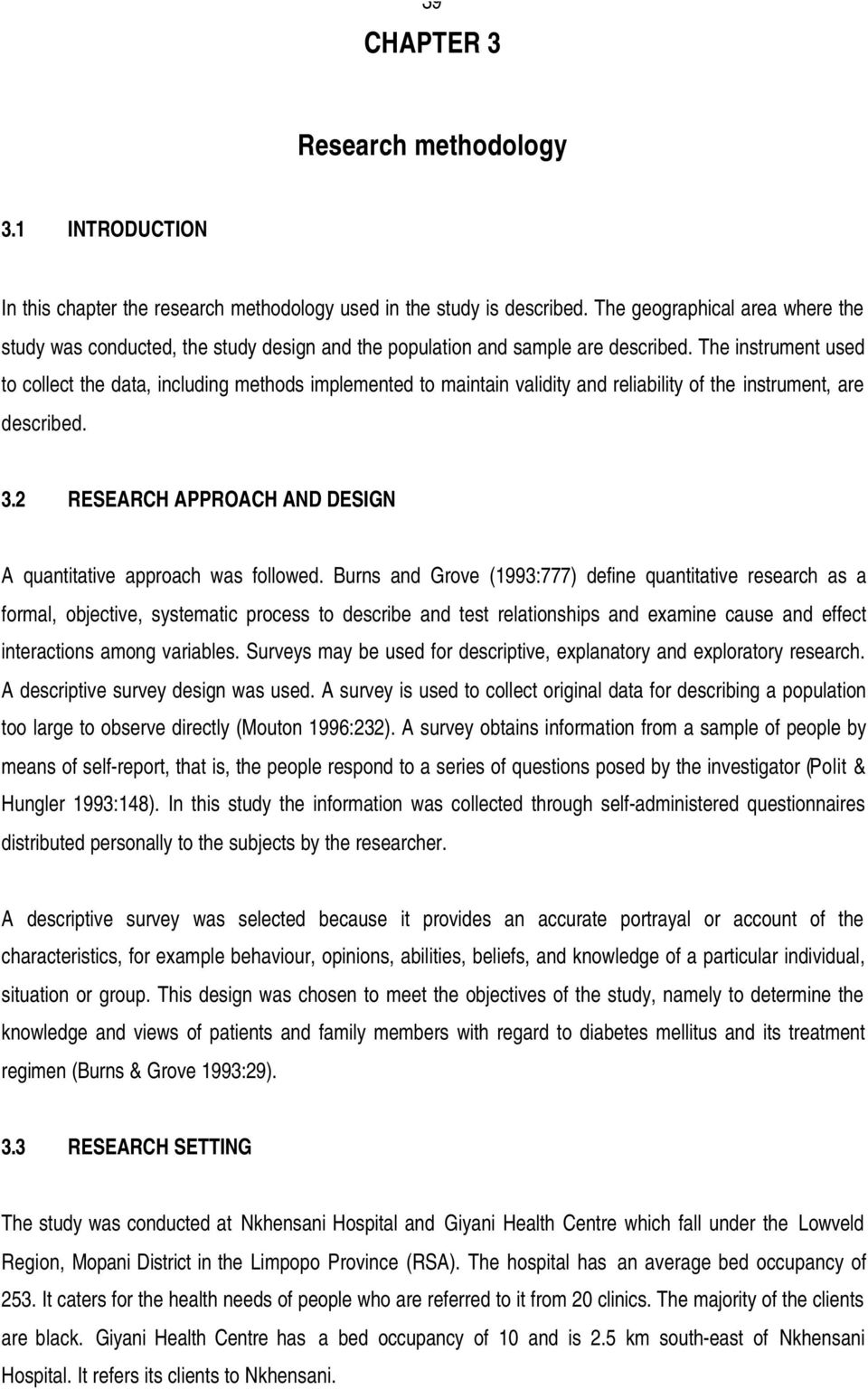qualitative research methodology sample thesis