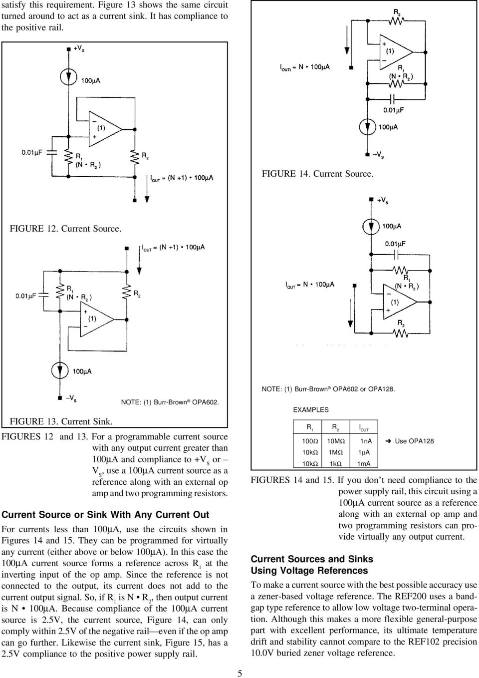 Design Of Fixed Current Sources Pdf Programmable Transimpedance Amplifier Circuit Schematic For A Source With Any Output Greater Than 100a And Compliance To