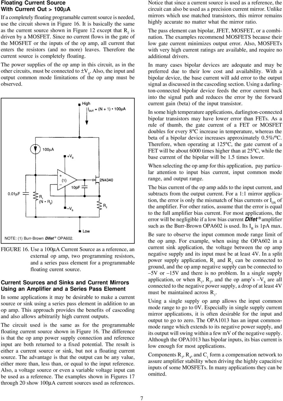Design Of Fixed Current Sources Pdf Switching Power Supply By Lm3524 And Lm324 Circuit Wiring Diagrams Since No Flows In The Gate Mosfet Or Inputs Op