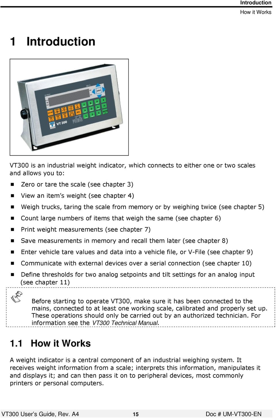 VT300 Weighbridge Indicator User s Guide - PDF