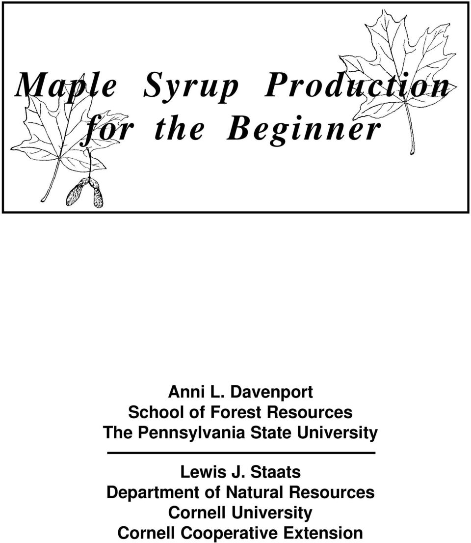 44733f264a3 Maple Syrup Production for the Beginner - PDF