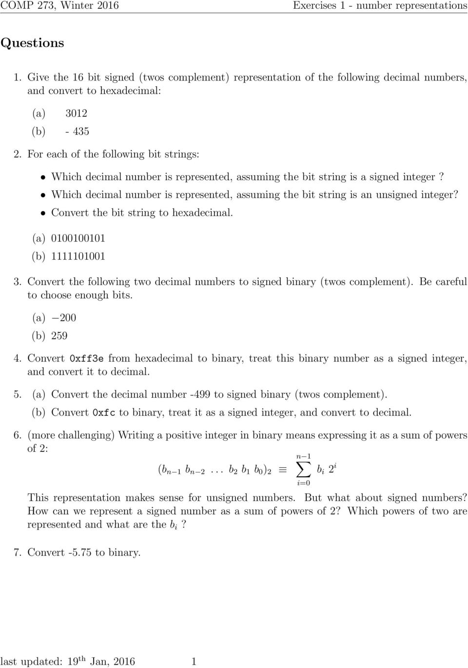 1 Give The 16 Bit Signed Twos Complement Representation Of Binary Coded Decimal Converter Negative Logic Which Number Is Represented Assuming String An Unsigned Integer Convert