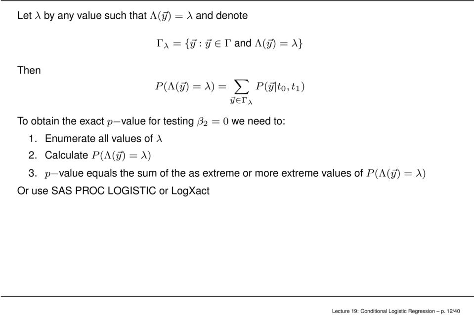 Lecture 19: Conditional Logistic Regression - PDF