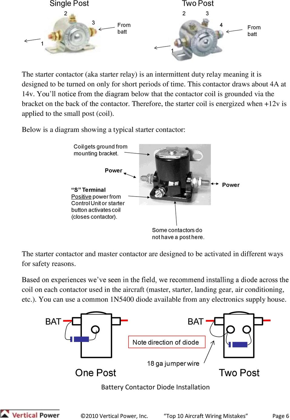 Top 10 Aircraft Wiring Mistakes Pdf Bendix Magneto Switch Diagram Therefore The Starter Coil Is Energized When 12v Applied To Small Post
